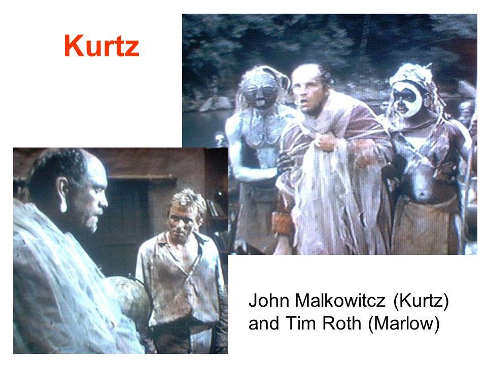 Kurtz John Malkowitcz (Kurtz) and Tim Roth (Marlow)