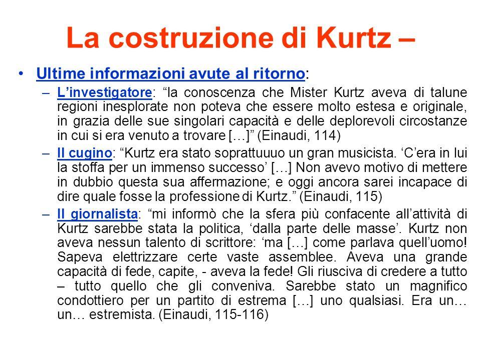 La costruzione di Kurtz –