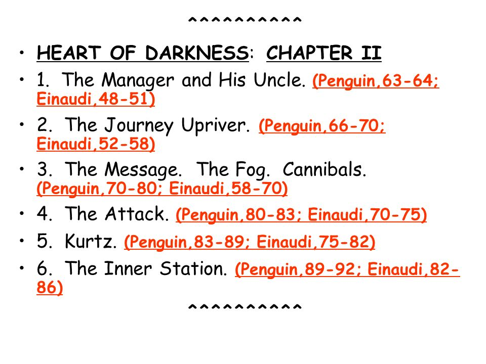 ^^^^^^^^^^ HEART OF DARKNESS: CHAPTER II. 1. The Manager and His Uncle. (Penguin,63-64; Einaudi,48-51)