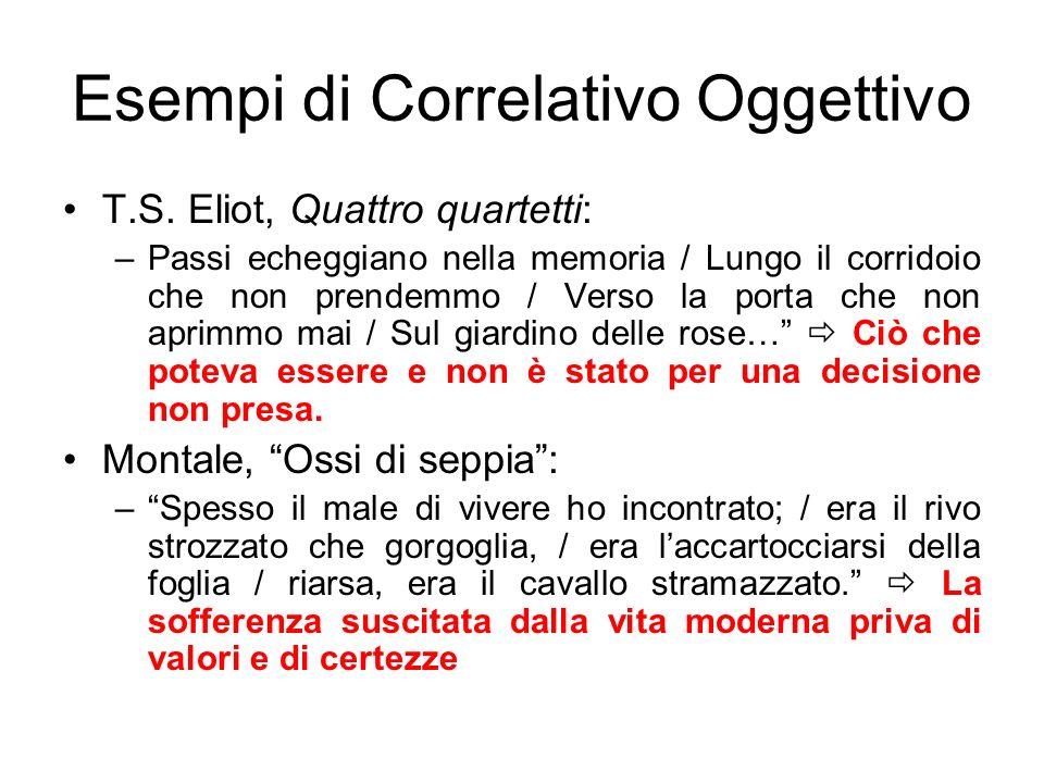 Esempi di Correlativo Oggettivo