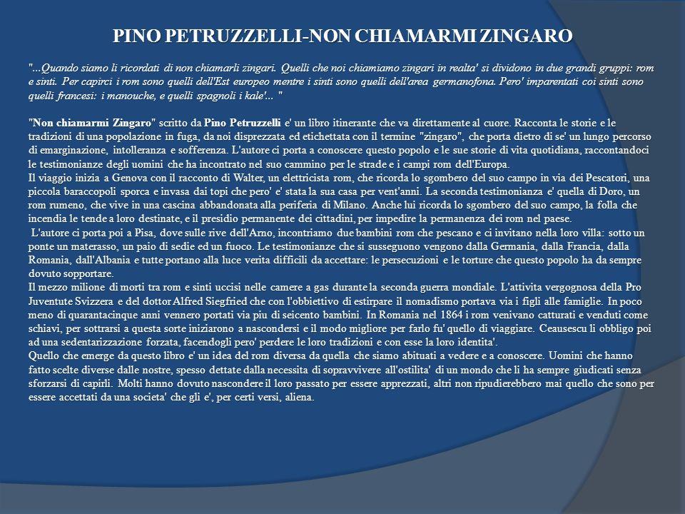 PINO PETRUZZELLI-NON CHIAMARMI ZINGARO