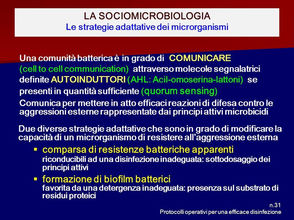 LA SOCIOMICROBIOLOGIA Le strategie adattative dei microrganismi