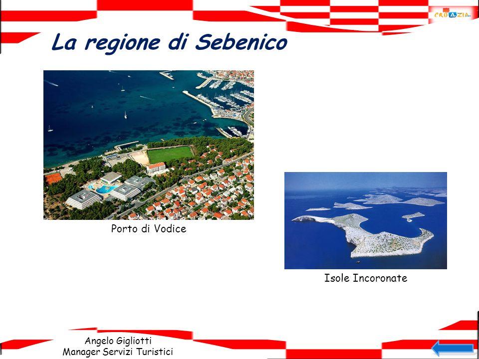 La regione di Sebenico Porto di Vodice Isole Incoronate