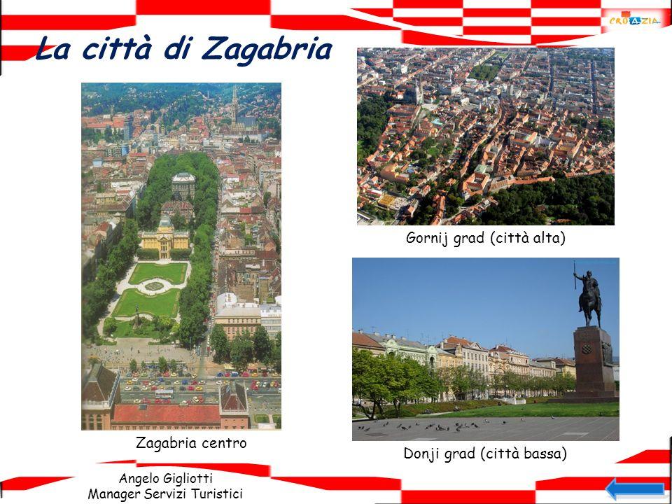 La città di Zagabria Gornij grad (città alta) Zagabria centro