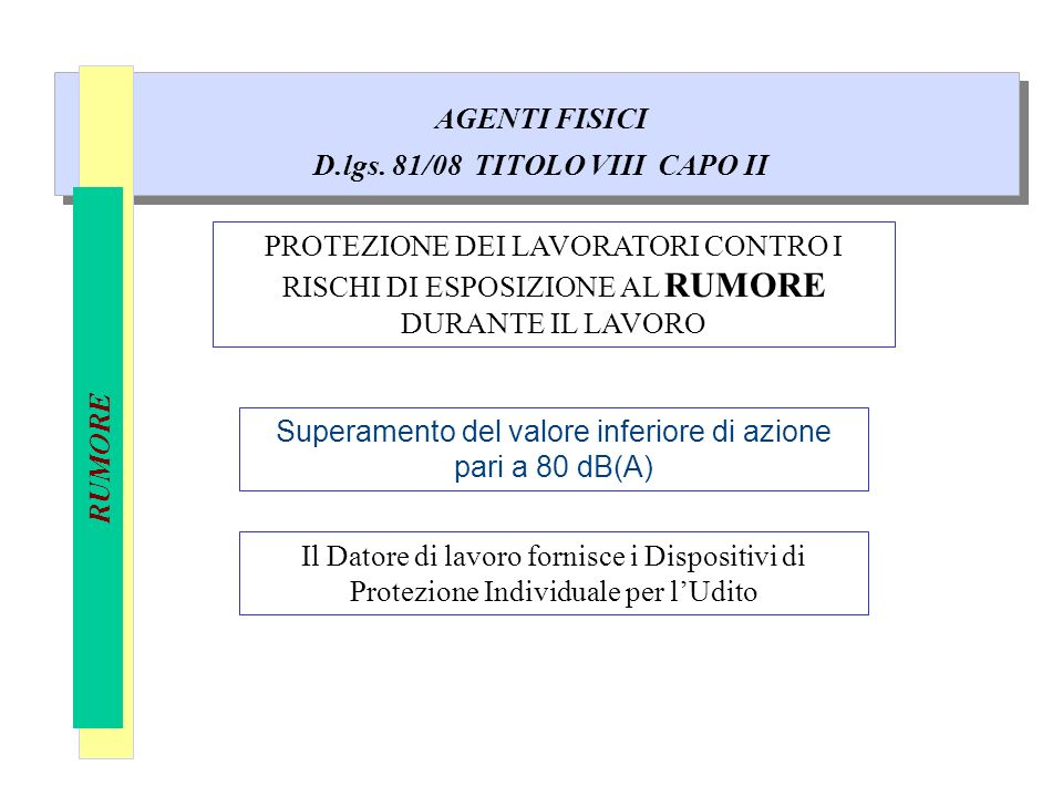 D.lgs. 81/08 TITOLO VIII CAPO II