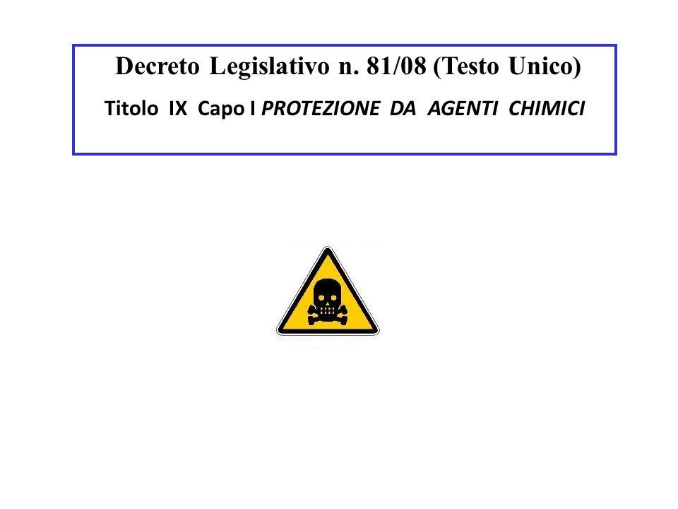Decreto Legislativo n. 81/08 (Testo Unico)