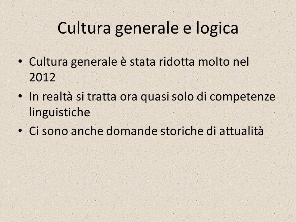 Cultura generale e logica