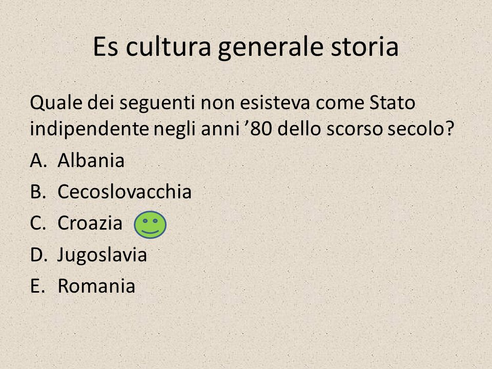 Es cultura generale storia