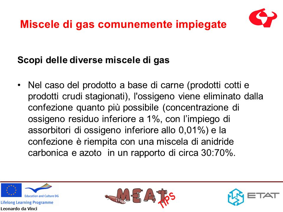 Miscele di gas comunemente impiegate