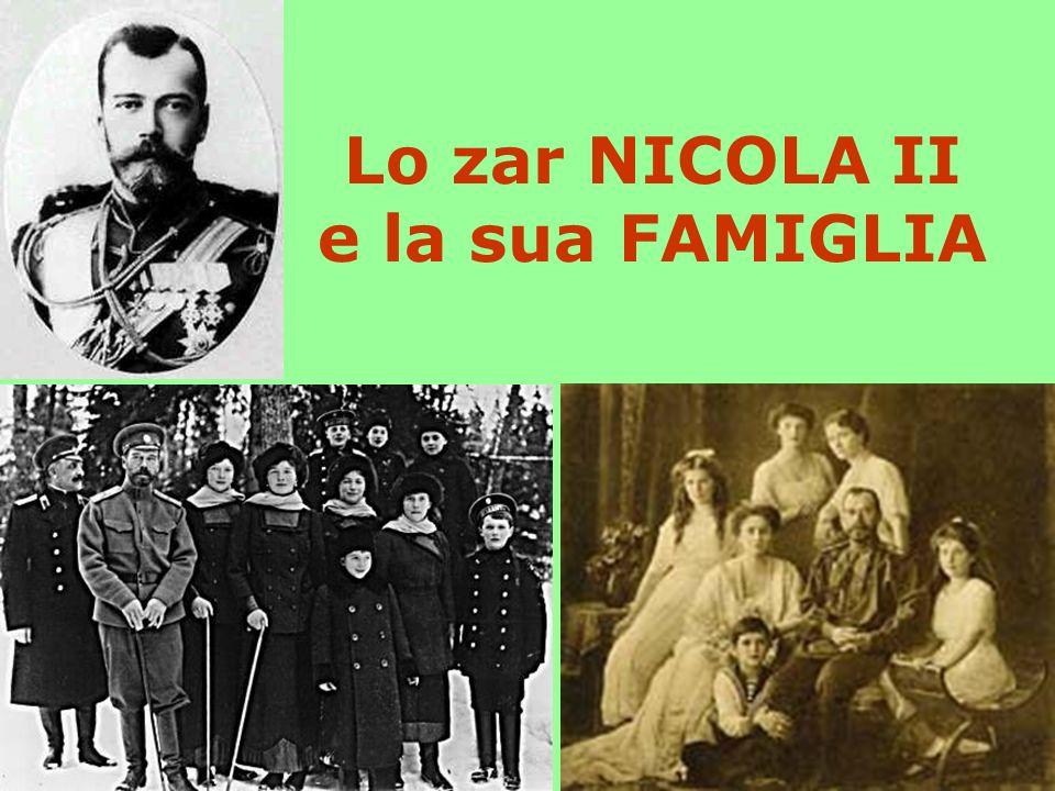 Lo zar NICOLA II e la sua FAMIGLIA