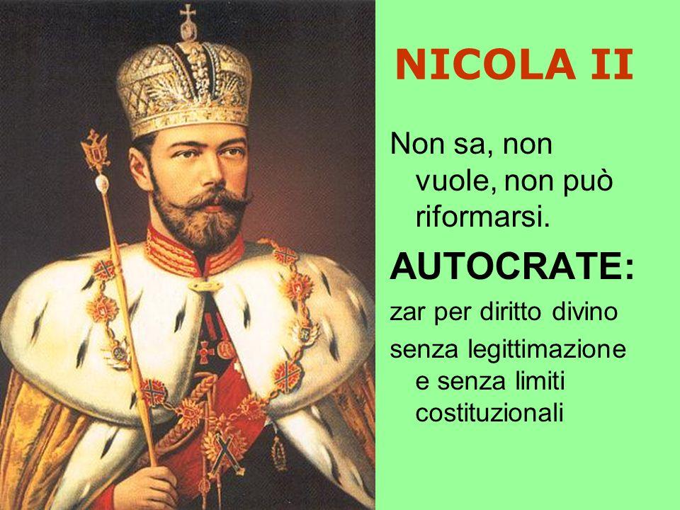 NICOLA II AUTOCRATE: Non sa, non vuole, non può riformarsi.