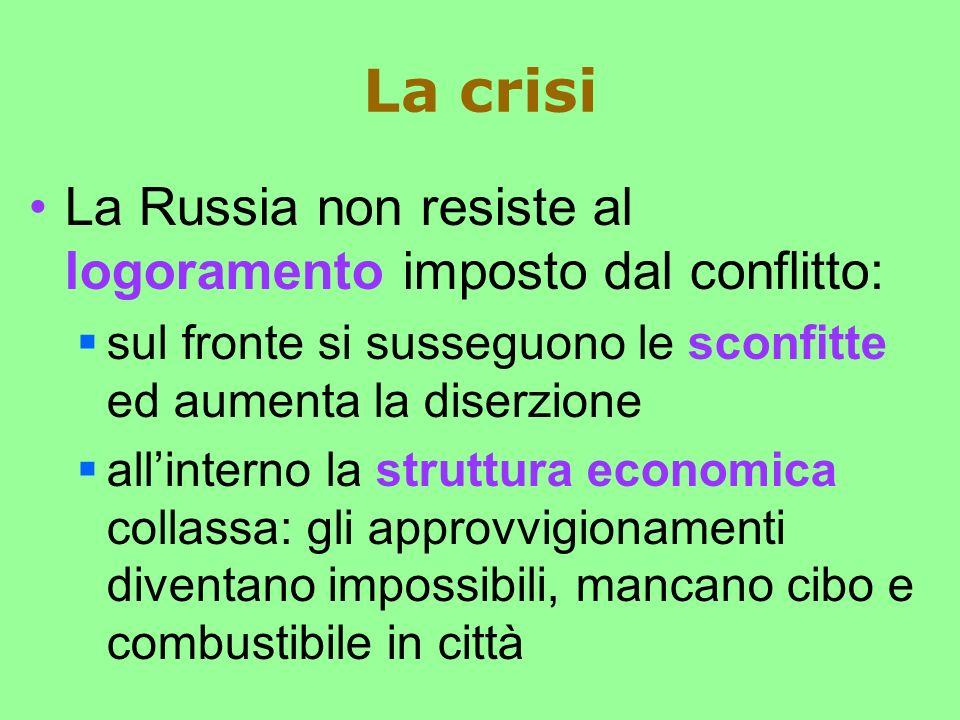 La crisi La Russia non resiste al logoramento imposto dal conflitto: