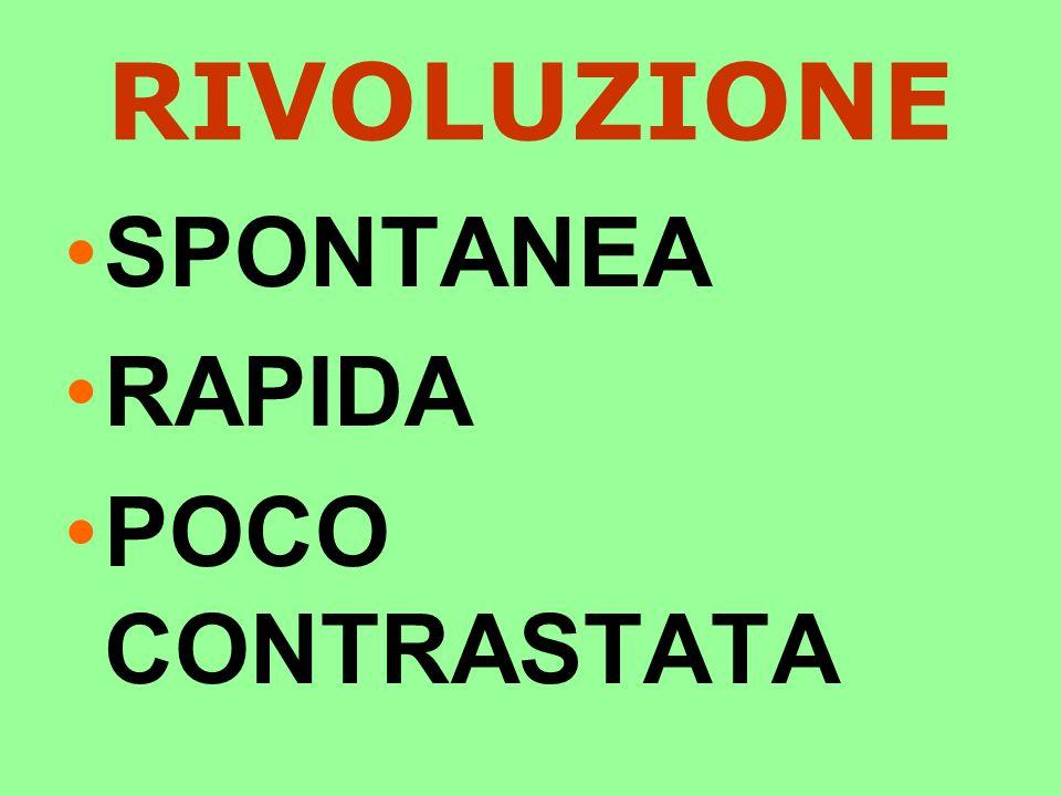 RIVOLUZIONE SPONTANEA RAPIDA POCO CONTRASTATA