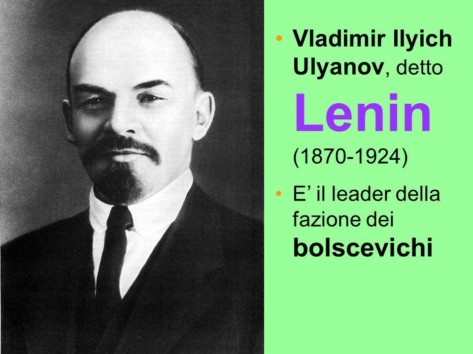 Vladimir Ilyich Ulyanov, detto Lenin (1870-1924)