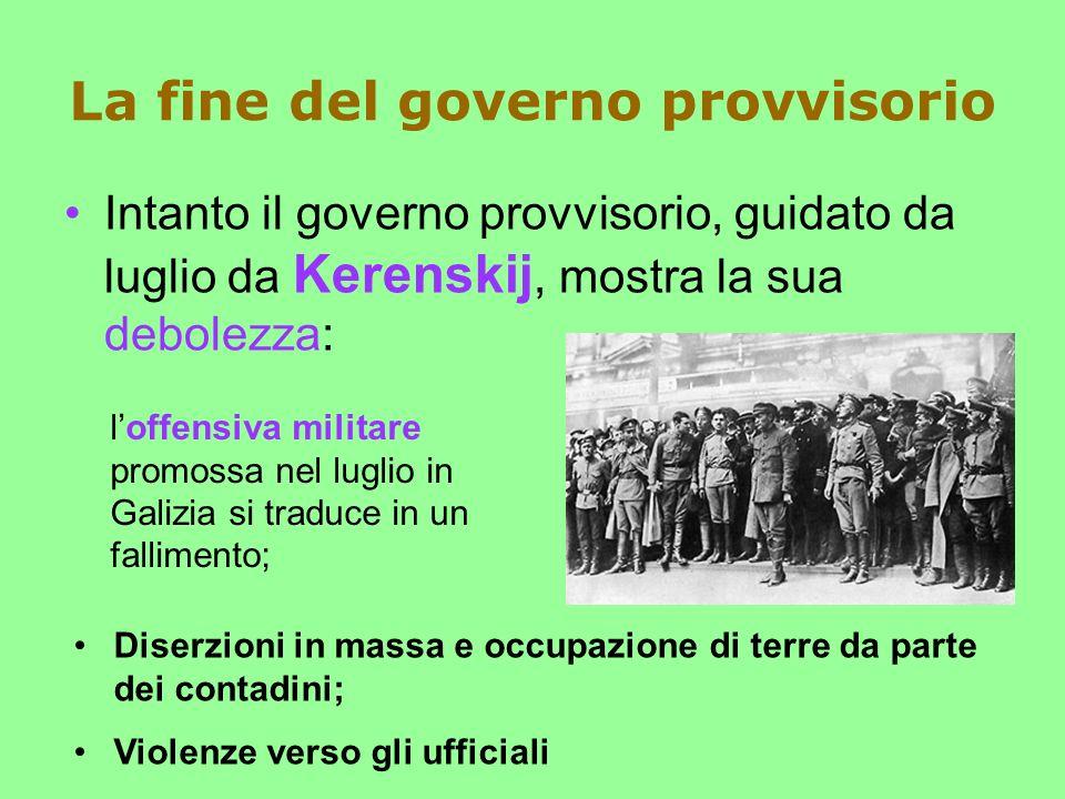 La fine del governo provvisorio
