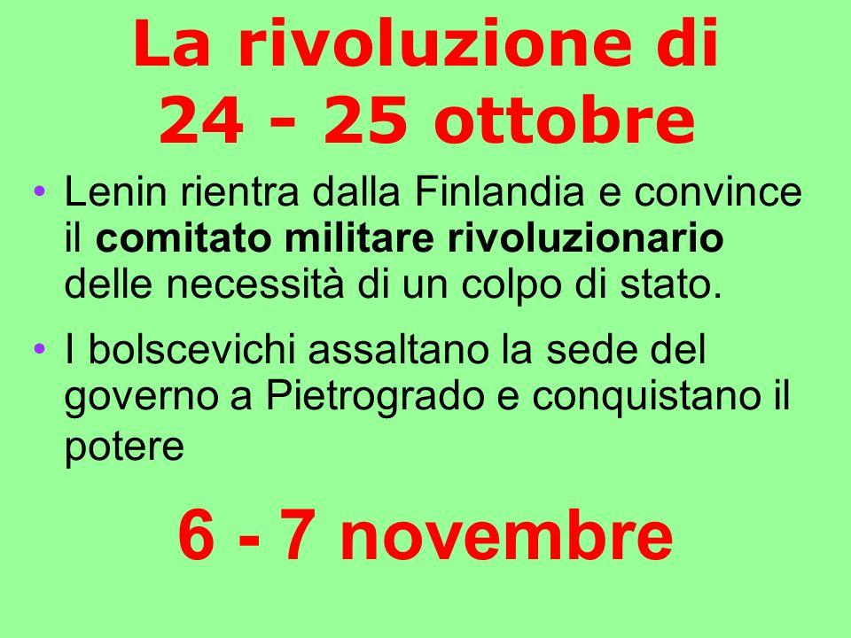 La rivoluzione di 24 - 25 ottobre