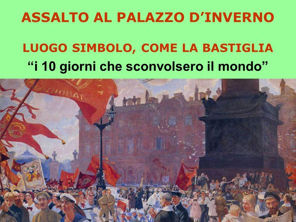 ASSALTO AL PALAZZO D'INVERNO LUOGO SIMBOLO, COME LA BASTIGLIA