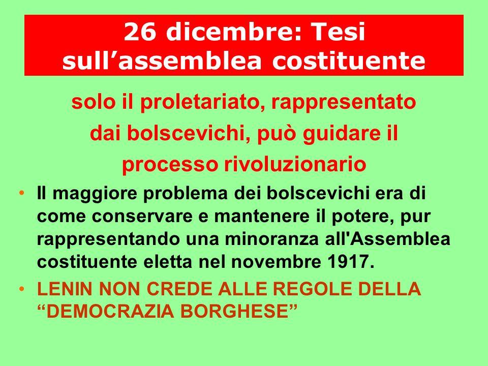 26 dicembre: Tesi sull'assemblea costituente