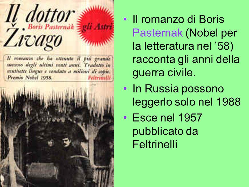 Il romanzo di Boris Pasternak (Nobel per la letteratura nel '58) racconta gli anni della guerra civile.