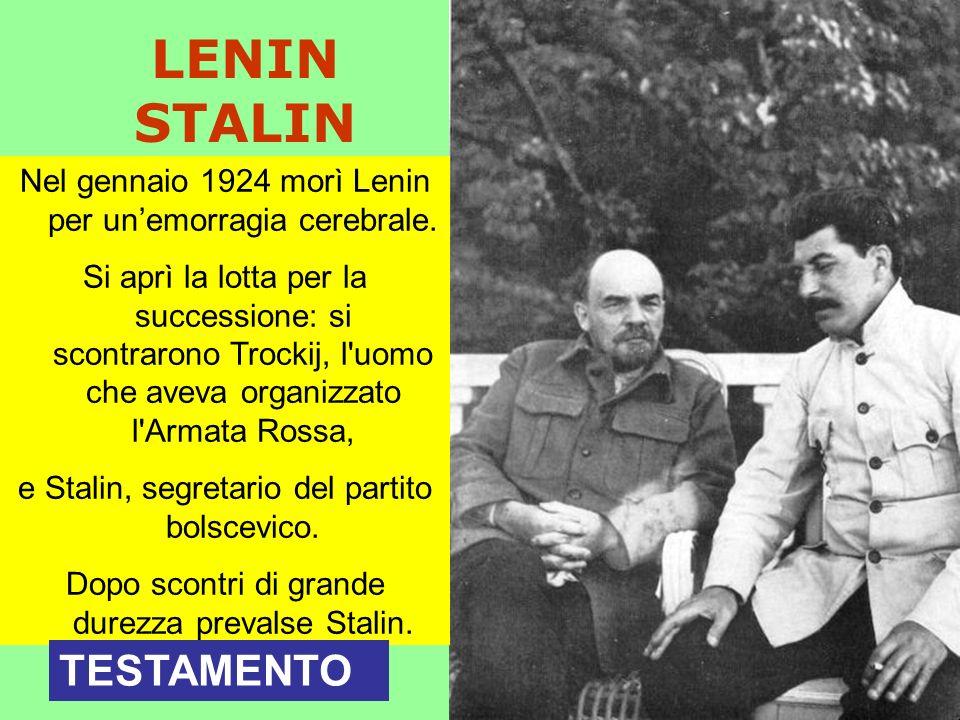 LENIN STALIN TESTAMENTO