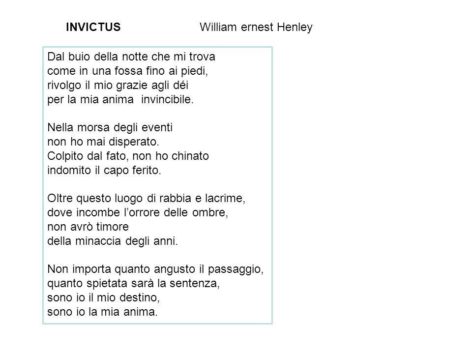 INVICTUS William ernest Henley. Dal buio della notte che mi trova. come in una fossa fino ai piedi,