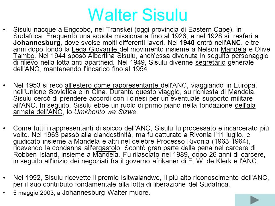 Walter Sisulu