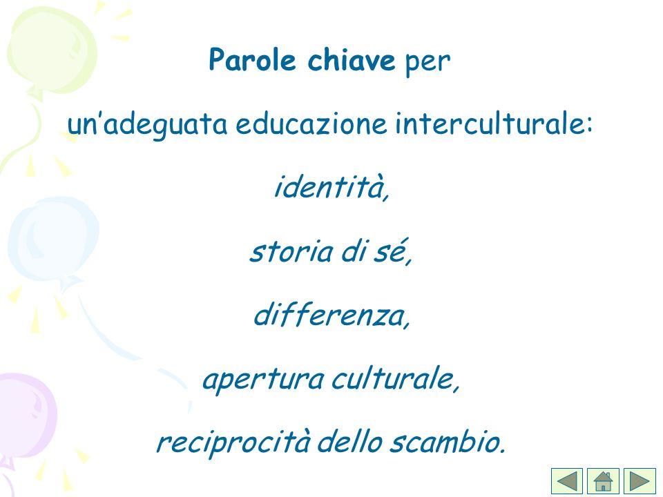Parole chiave per un'adeguata educazione interculturale: