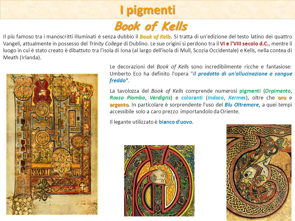 I pigmenti Book of Kells