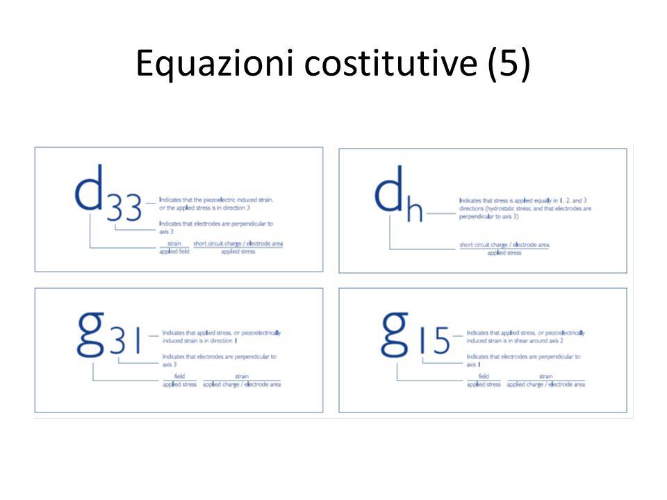 Equazioni costitutive (5)