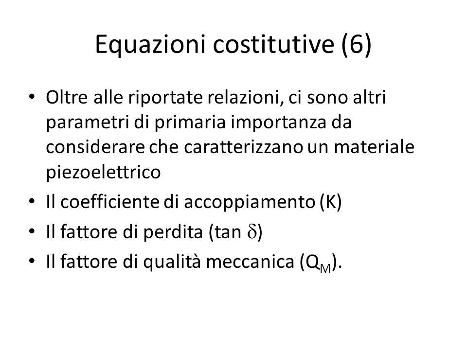 Equazioni costitutive (6)