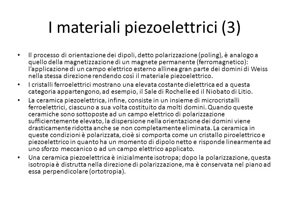 I materiali piezoelettrici (3)