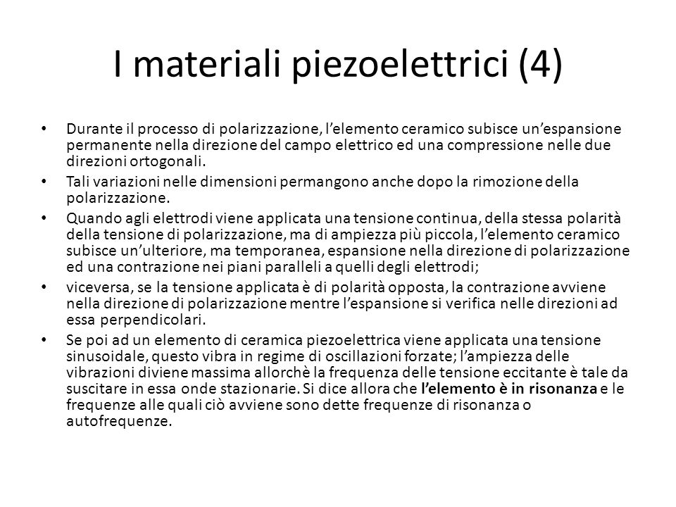 I materiali piezoelettrici (4)