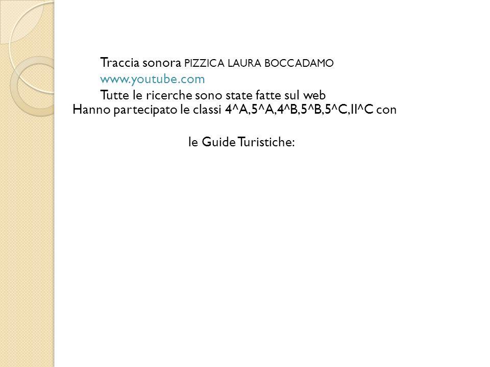 Traccia sonora PIZZICA LAURA BOCCADAMO www. youtube