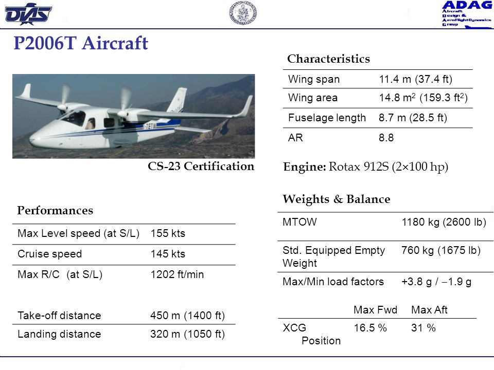 P2006T Aircraft Characteristics CS-23 Certification