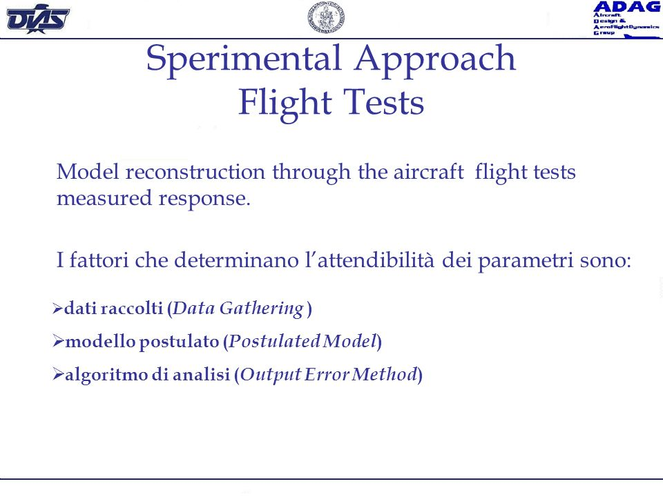 Sperimental Approach Flight Tests