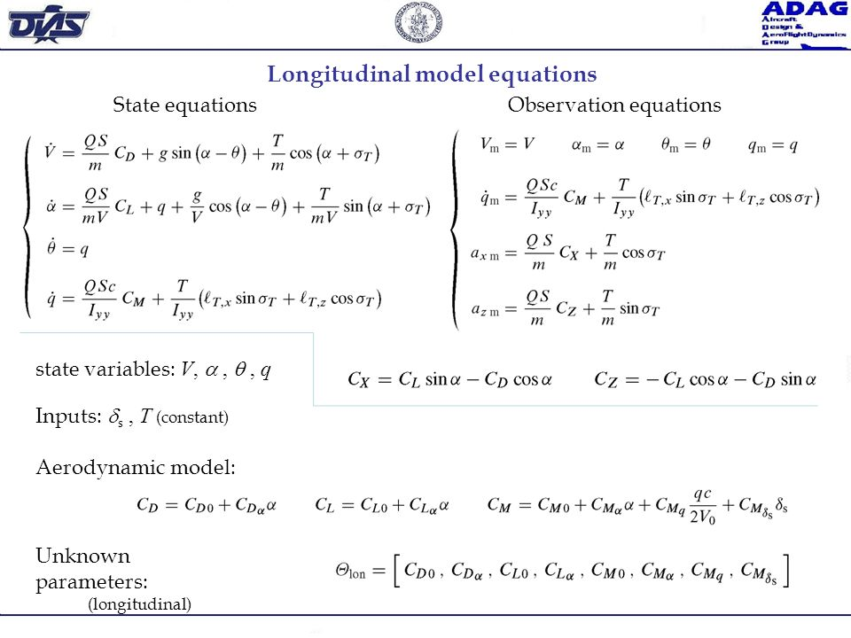 Longitudinal model equations