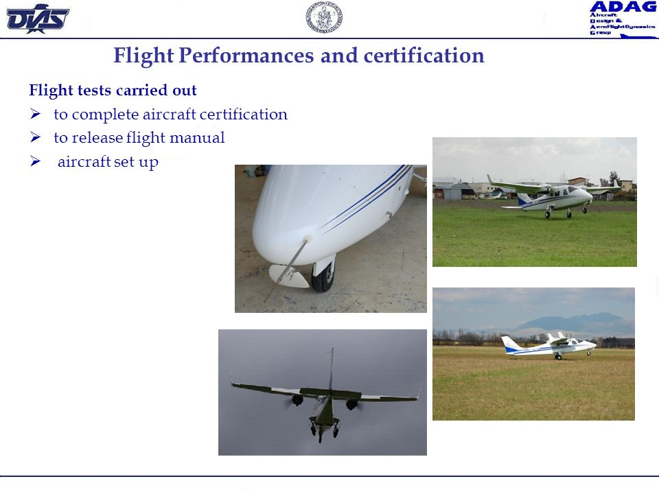 Flight Performances and certification