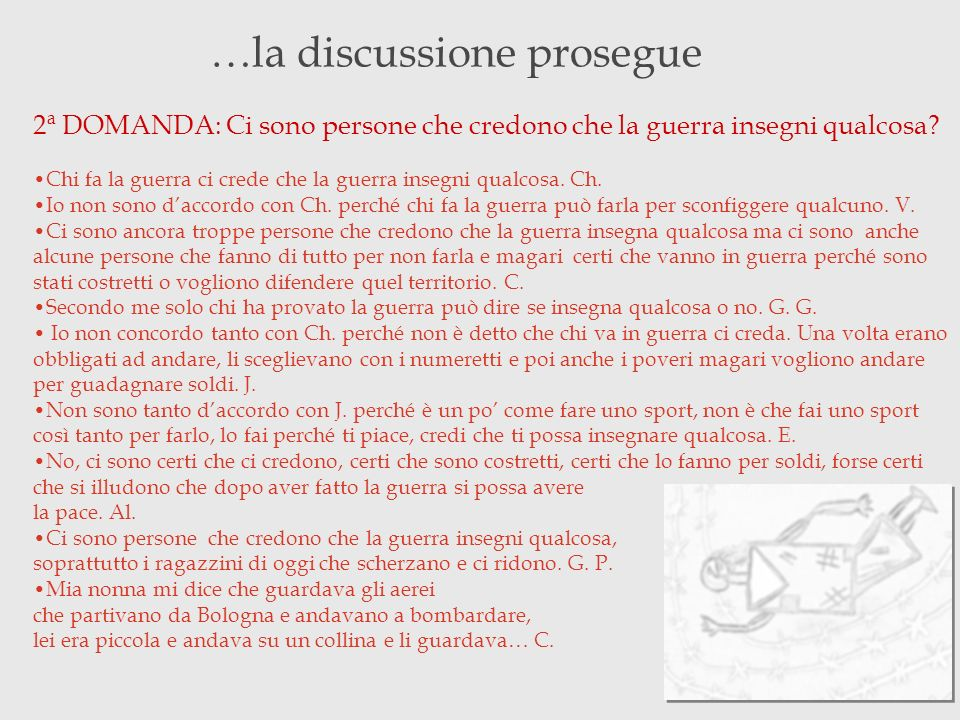 …la discussione prosegue