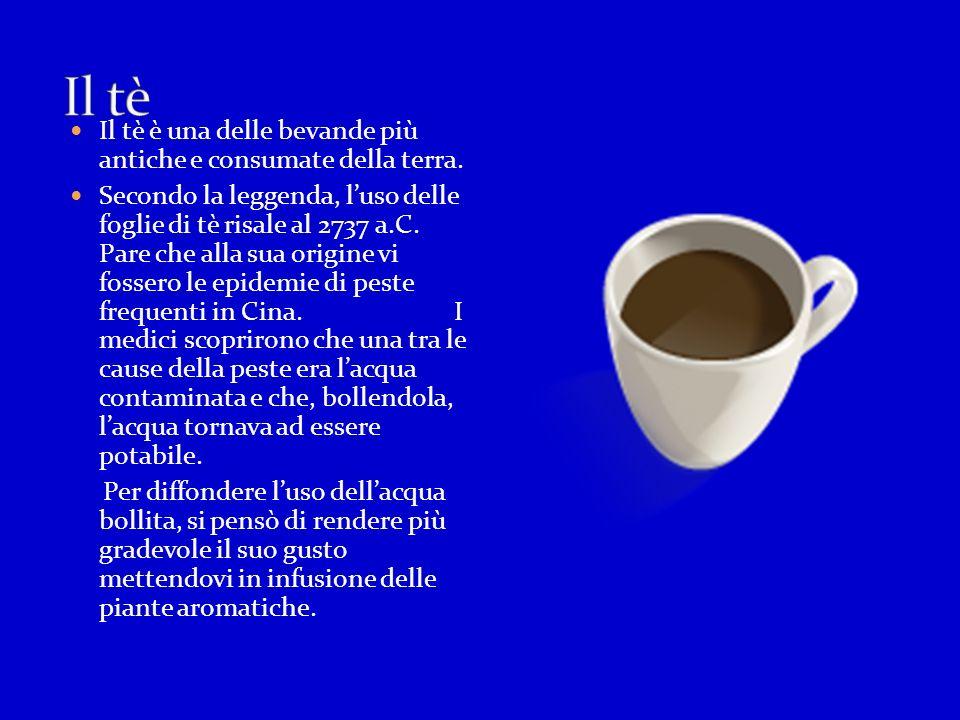 Il tè Il tè è una delle bevande più antiche e consumate della terra.