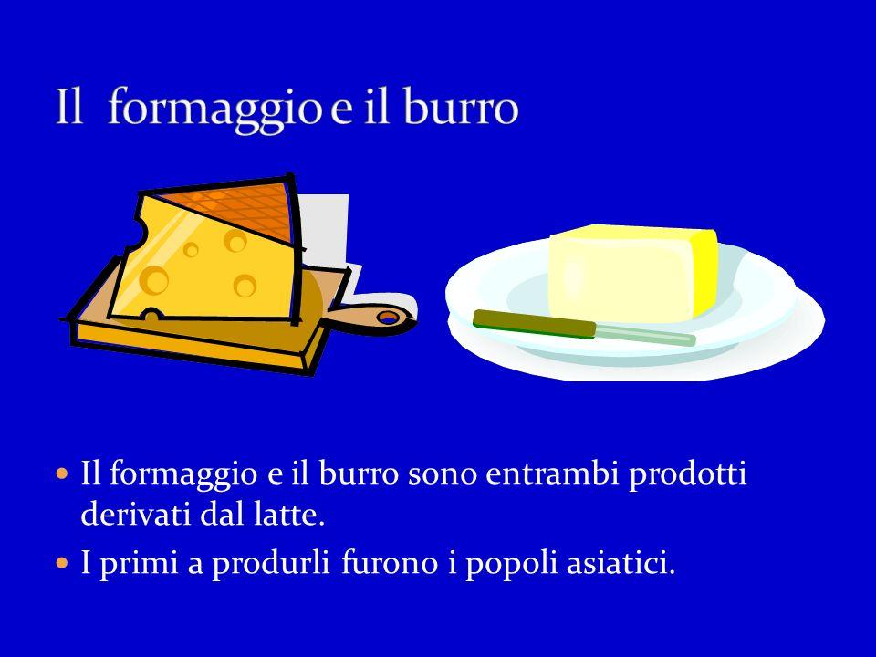 Il formaggio e il burro Il formaggio e il burro sono entrambi prodotti derivati dal latte.