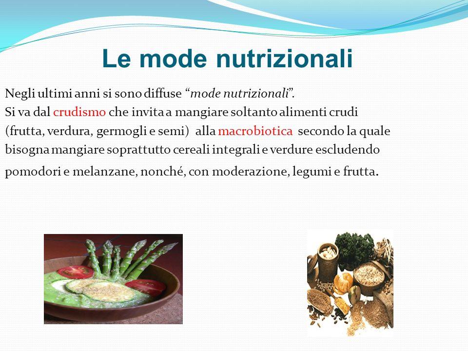 Le mode nutrizionali