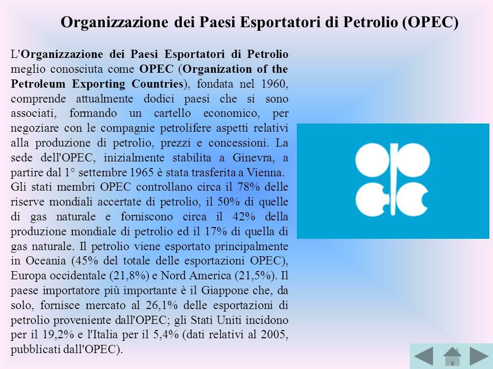 Organizzazione dei Paesi Esportatori di Petrolio (OPEC)
