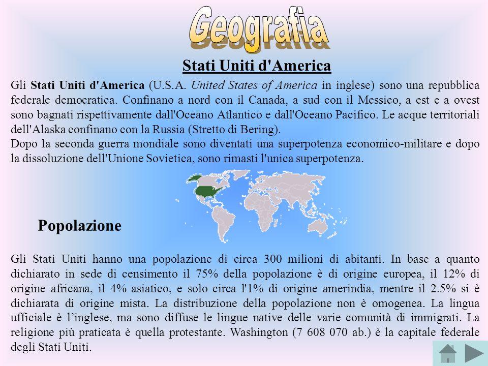 Geografia Stati Uniti d America Popolazione