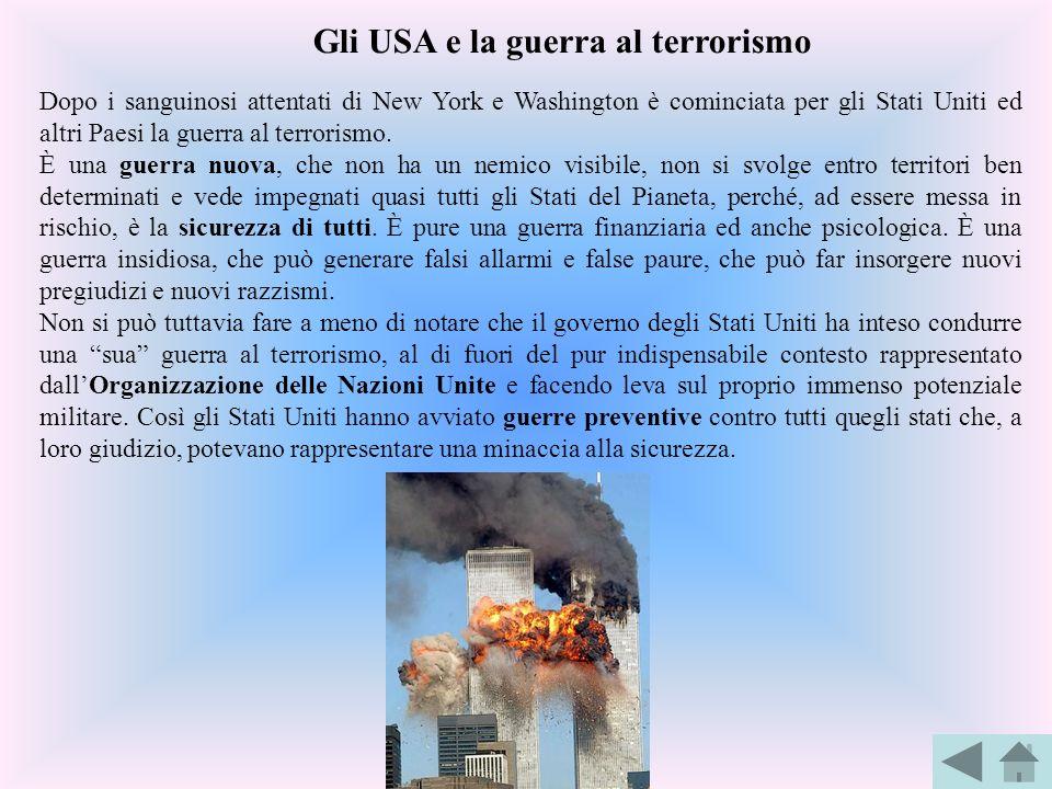 Gli USA e la guerra al terrorismo