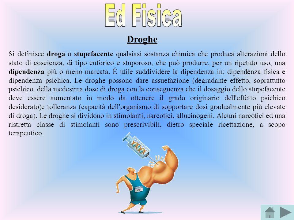 Ed Fisica Droghe.