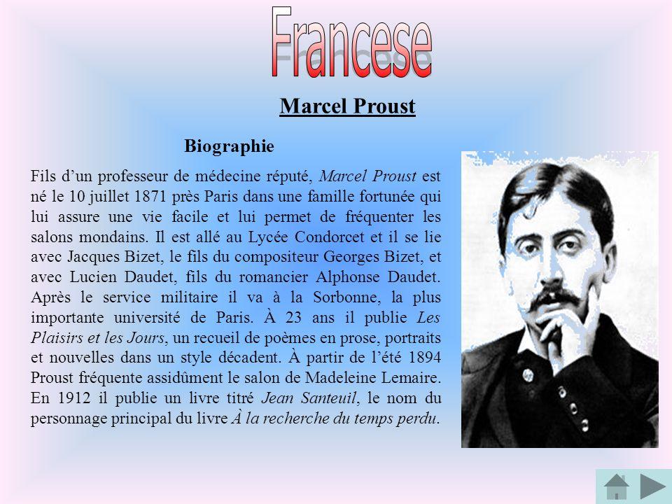 Francese Marcel Proust Biographie