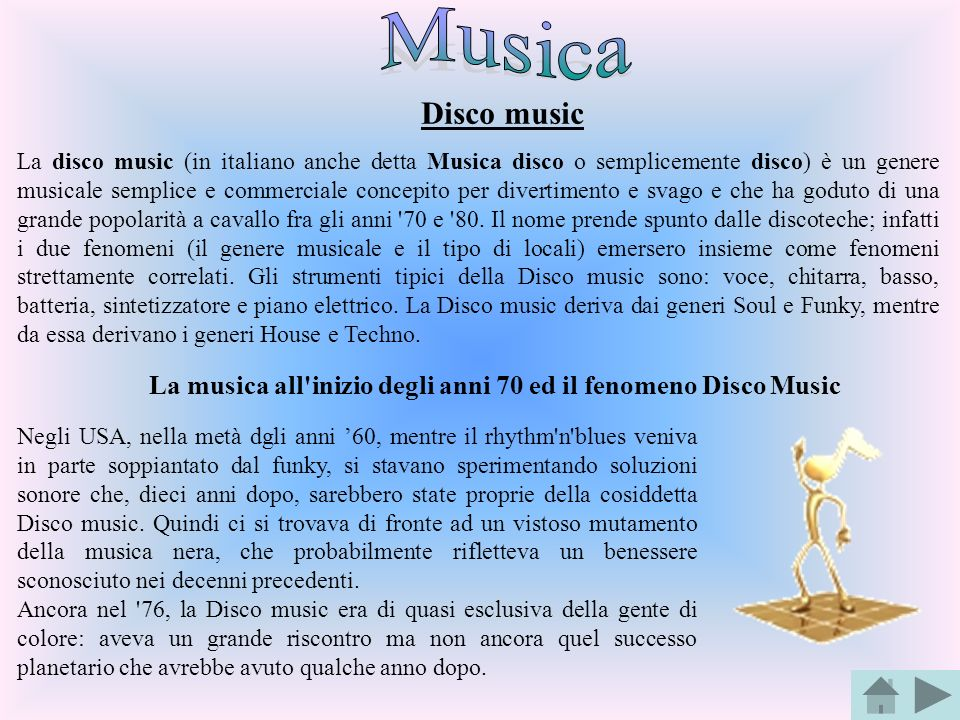 Musica Disco music.
