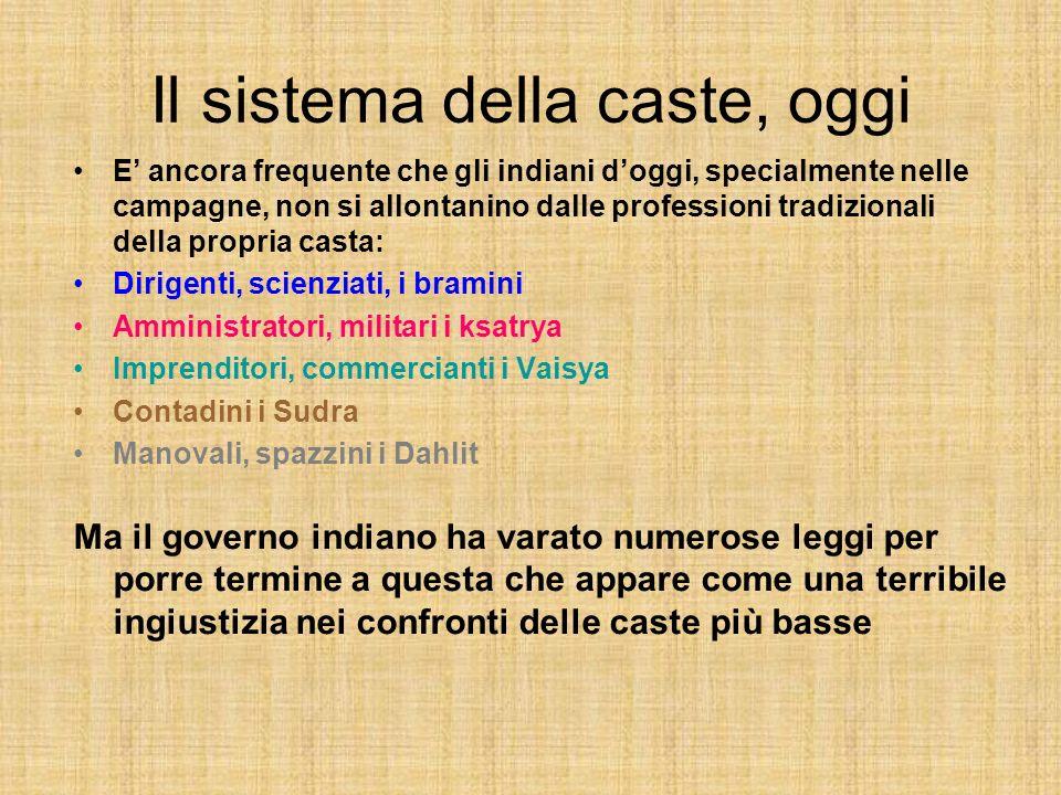 Il sistema della caste, oggi