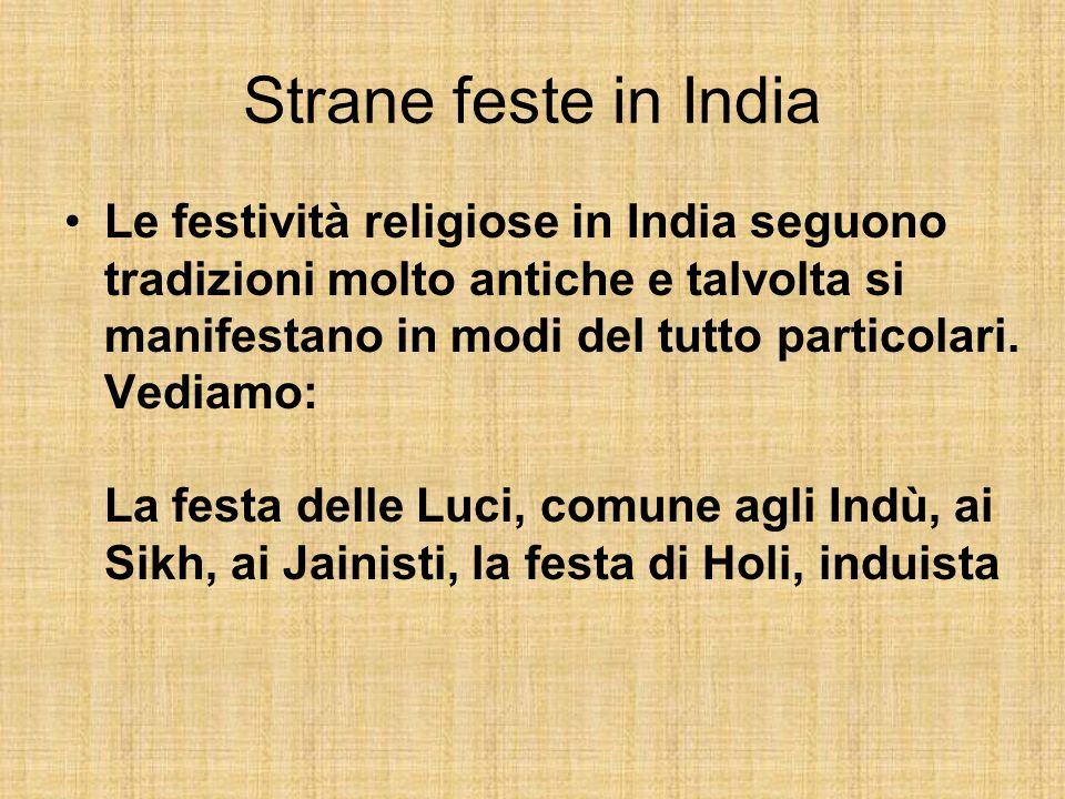 Strane feste in India