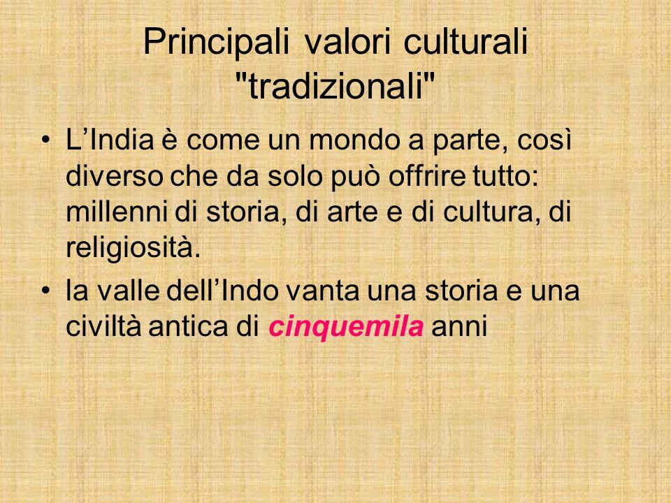 Principali valori culturali tradizionali